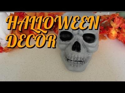 DIY HALLOWEEN DECOR - Painted Skull