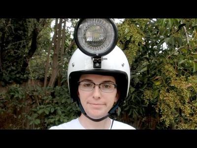 DIY lithium powered 20w LED helmet lamp