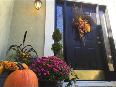 Fall Front Entrance. DIY Fall Wreath
