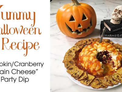 "Halloween Recipe - Creepy ""Brain""  Party Dip! Easy DIY"