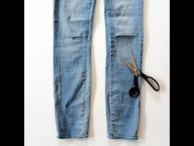 How To: DIY Slash.Cut up Jeans