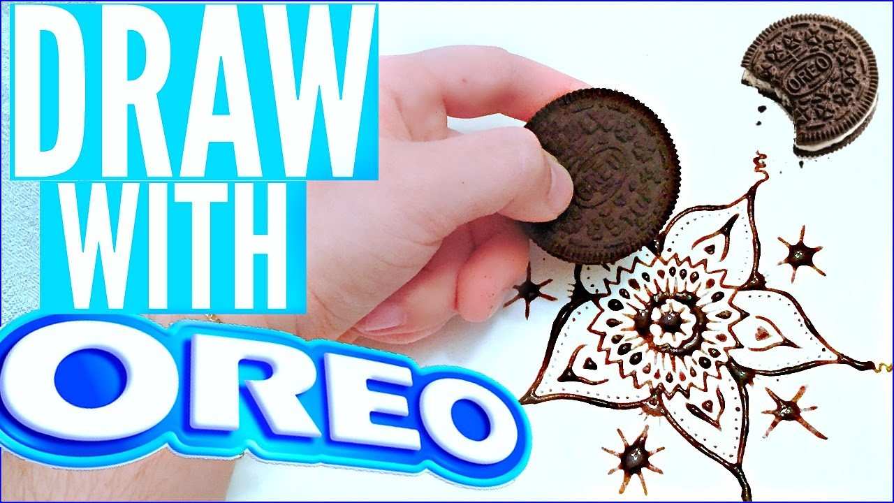 HOW TO DRAW WITH OREOS | DIY OREO ART!