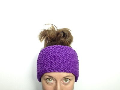 How to Loom Knit a Seed Stitch Headband (DIY Tutorial)