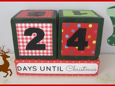 {Christmas} ❄ DIY Xmas Countdown Cubes