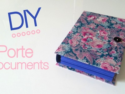 DIY Back to School Fabriquer un porte documents