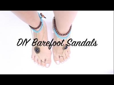 DIY Barefoot Sandals