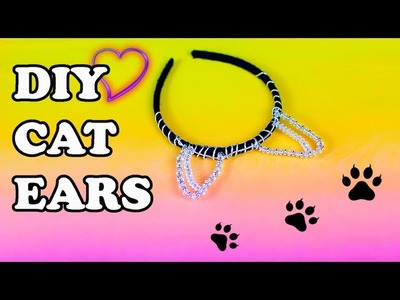 DIY Black Cat Ears Headband for Halloween Costume Accessories 2015