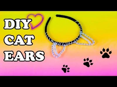 DIY Black Cat Ears Headband for Halloween Costume Accessories 2015