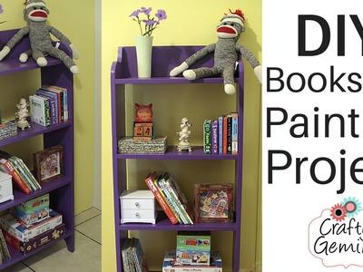 DIY Bookshelf Painting- Sherwin-Williams Latino