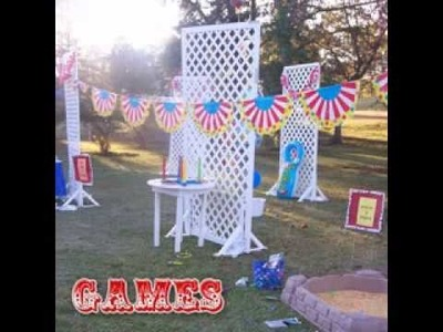 DIY Carnival birthday party games decorating ideas