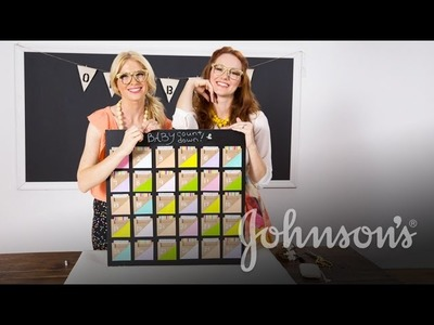 DIY Chalkboard Due Date Calendar with The Girls With Glasses | JOHNSON'S®