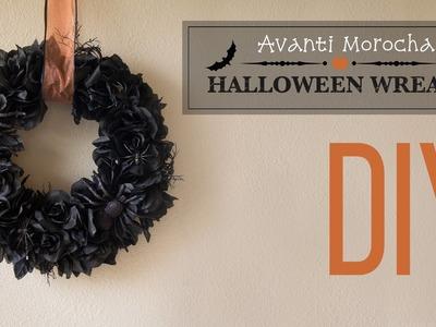DIY Halloween Wreath. Corona de Halloween