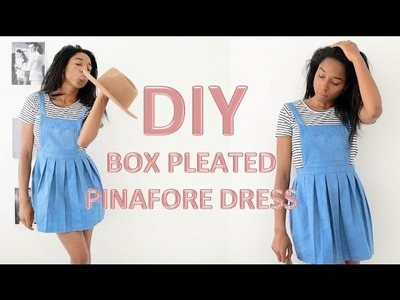 DIY | HOW TO MAKE A BOX PLEATED PINAFORE DRESS