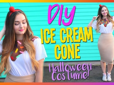 DIY Ice Cream Cone Halloween Costume | CHEAP & EASY
