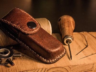 Diy leather harmonica case - timelapse