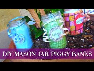 ♡DIY Mason Jar Piggy Bank♡| DarlingDIY's
