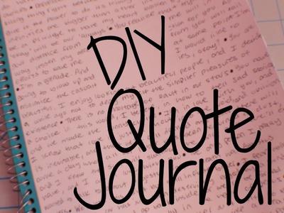 DIY - Quote Notebook