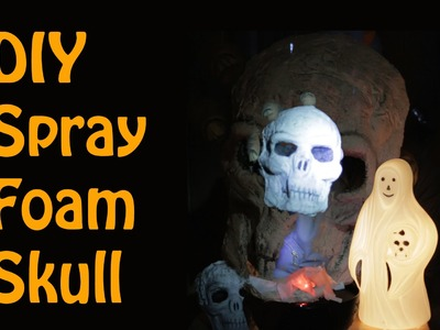 DIY Spray Foam Halloween Skull (with Great Stuff)