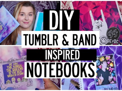 DIY TUMBLR & BAND INSPIRED NOTEBOOKS + BOOKMARKS!