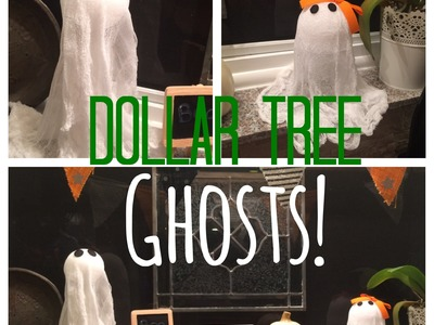 Dollar Tree DIY GHOSTS! Cheap Fall Activities for Kids Collab