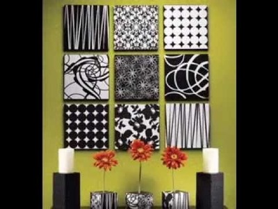Easy DIY ideas for canvas art decorations