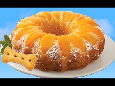 How to bake PEACH RING CAKE FOR DOGS Upside down Cake DIY Dog Cake by Cooking For Dogs