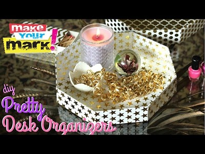 How to: DIY Pretty Desk Organizers