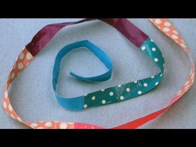 How to make a duct tape strap|Sophie's World