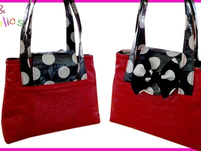 How to sew a cute handbag  - Step by step Tutorial (Mary Lou Pattern)
