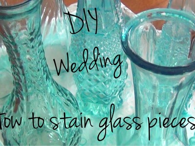 How to Stain Glass Pieces ♥ DIY Wedding