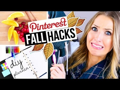 PINTEREST HACKS.  TESTED! #5 || Fall DIY Edition!