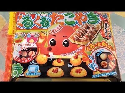Popin Cookin Kuru Kuru Takoyaki Octopus Balls - Japanese DIY Candy Kit