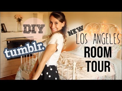 Room Tour 2014 Los Angeles - DIY Tumblr Decor, Walk in Closet, + Desk Organization! | itsLyndsayRae