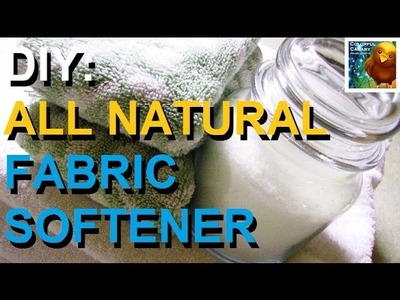 1 Ingredient All Natural Fabric Softener! Cheap & Non Toxic