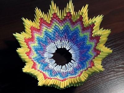 3D origami vase (basket) tutorial (instruction)
