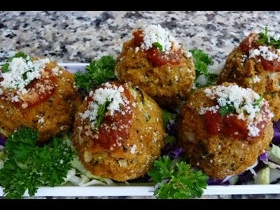 Albondigas de Soya Receta (How to soy-meatballs)
