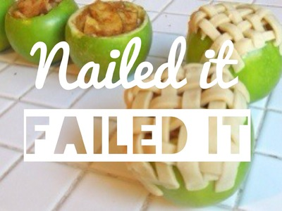 Apple Pie Baked Inside Apples!! - NAILED IT FAILED IT Ep.  3