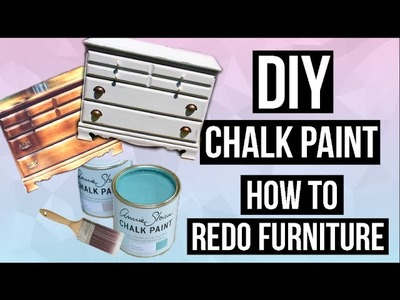 DIY Chalk Paint & How to Paint and Distress Furniture!. EASY & CHEAP