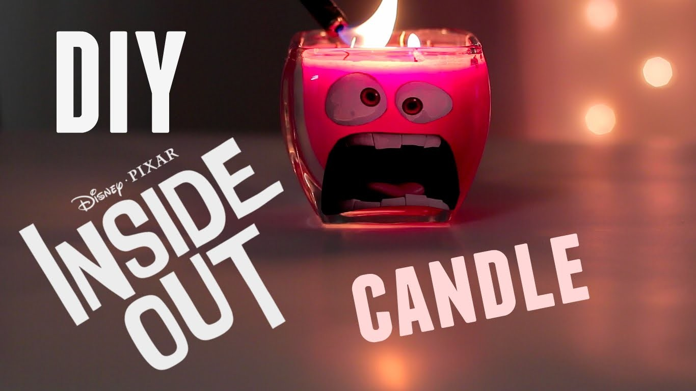 DIY Disney Candle  Inside Out Pixar Movie Angry Inspired Candle from Crayons