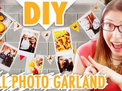 DIY Fall Photo Garland | Easy Autumn Craft Project!