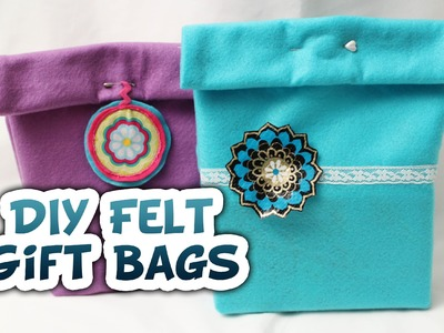 DIY Felt Gift Bags {Very EASY} - Whitney Sews