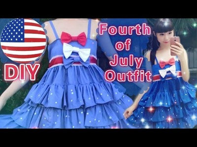 DIY Fourth of July Outfit.Dress(Easy)