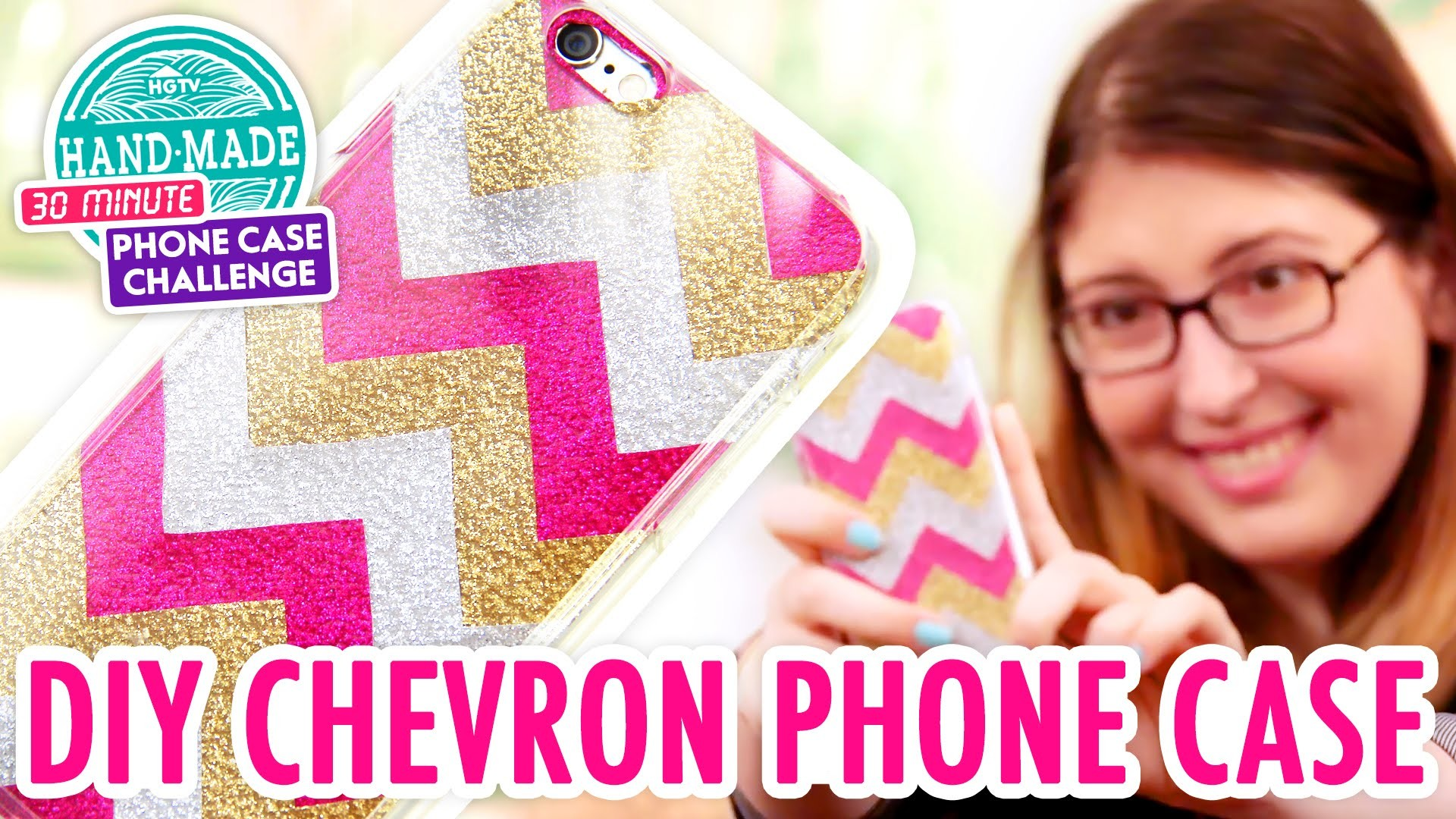 DIY Glitter Chevron Phone Case - HGTV Handmade Phone Case Challenge