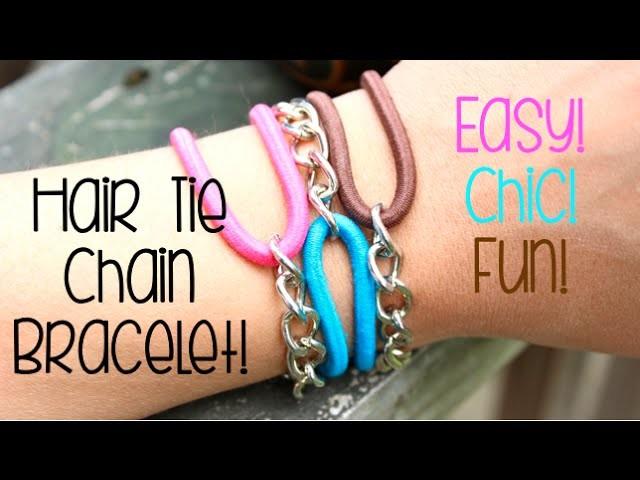 DIY Hair Tie Chain Bracelets!