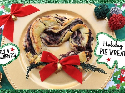 DIY Healthy Holiday Pie Wreaths! Only 4 Ingredients!