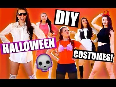 DIY LAST MINUTE Halloween Costumes! | STYLOWEEN