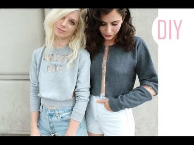 DIY | NASTY GAL CLEAR PLASTIC SWEATER