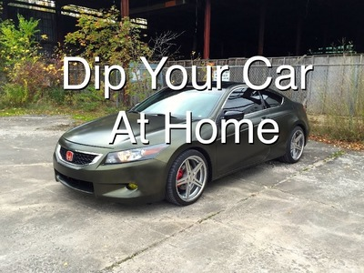 DIY: PlastiDip Your Car at Home (Part 2: Spraying and Peeling)