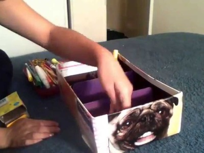 Diy shoe box organizer