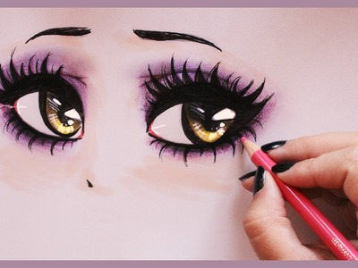 Drawing Tutorial ❤ How to draw and color Vampy Eyes
